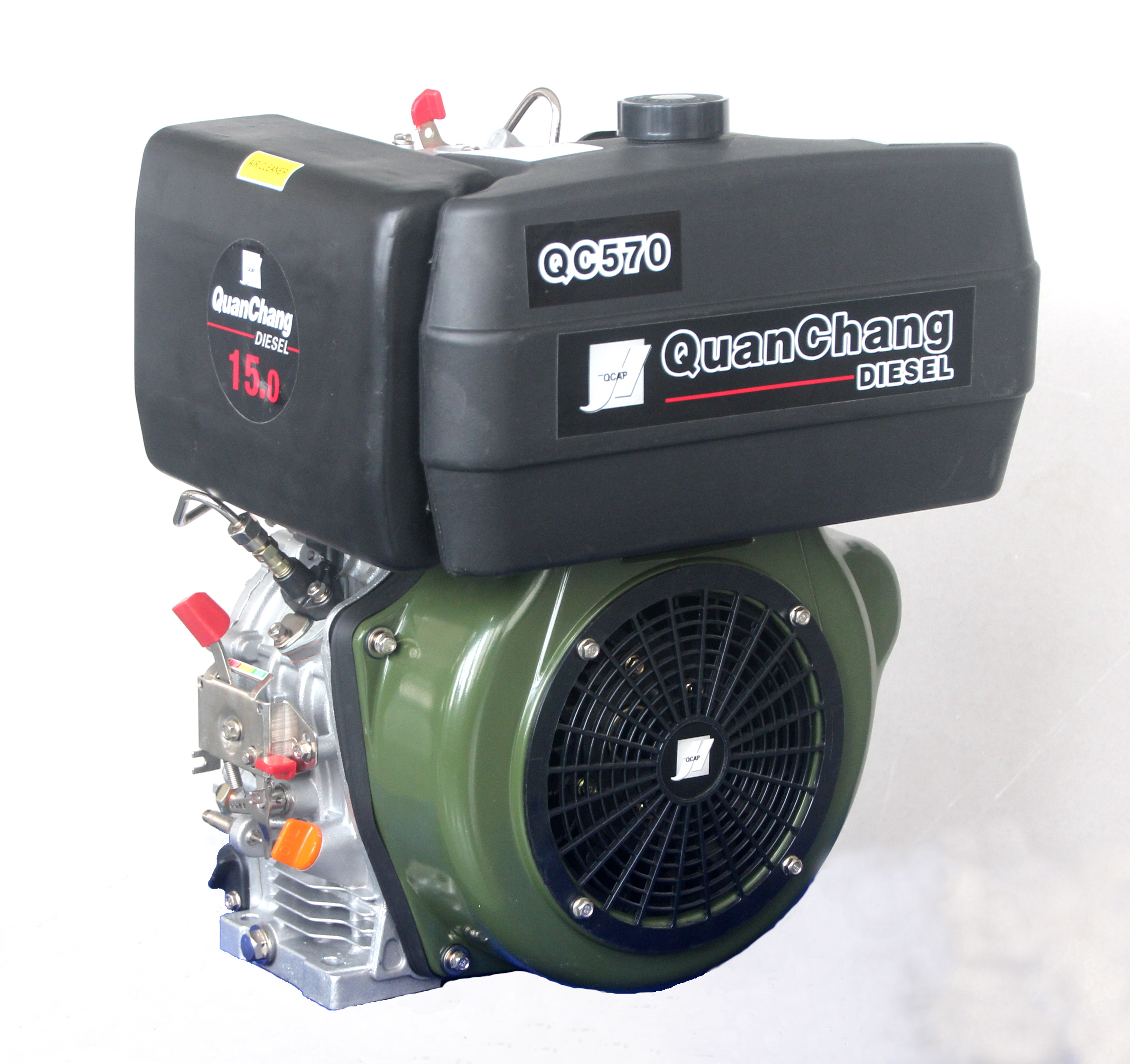 Single cylinder air-cooled diesel engine QC570